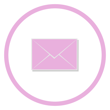 mail: Pink mail icon, Mail Symbol vector Illustration