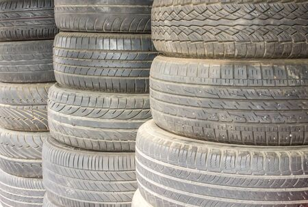 tyre tread: Car tires, Rubber tire, spare wheel Stock Photo