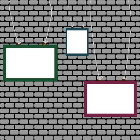 whiteboard: Whiteboard on gray brick wall