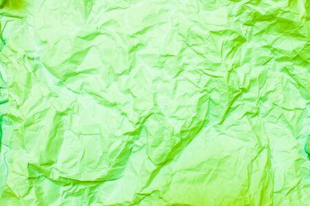 wrinkled paper: Green crumpled paper, wrinkled paper
