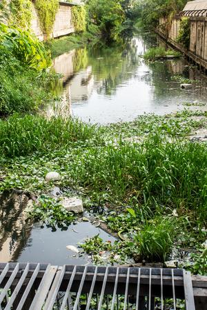 canal: Sewage canal Stock Photo