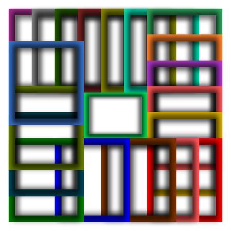 the frame: colorful frame background Illustration