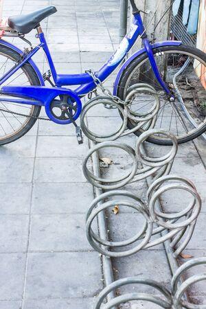 locked: Bike locked, bicycle Stock Photo