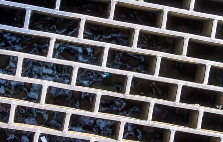 grate: Drain grate Stock Photo