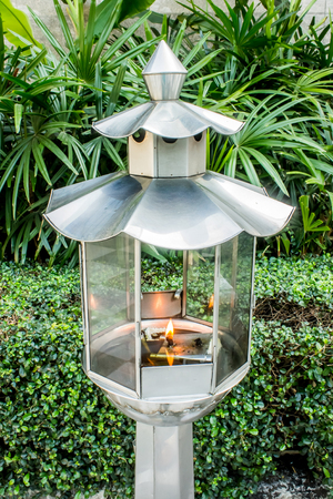 steel: Stainless oil lamp, Vintage stainless steel lantern, Stainless Steel lamp, stainless lantern Stock Photo