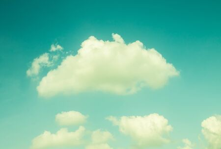 vintage background: Vintage clouds sky, sky background with clouds, Vintage style Stock Photo