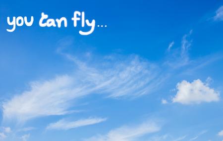 tu puedes: fondo del cielo escribir Se puede volar