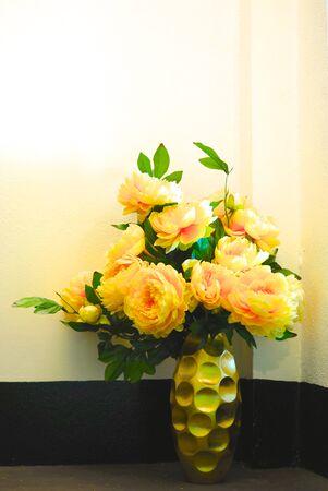 botan: botan flowers on chinese jar