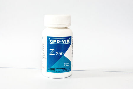 antiviral: another package of antiviral from GPO Thailand,shallow focus