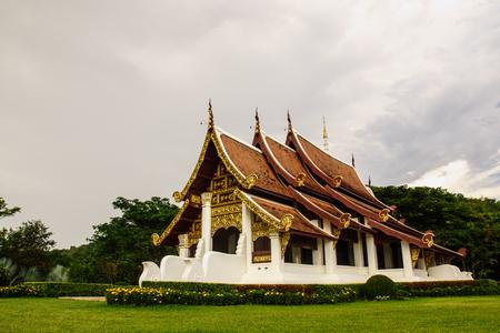 thai style pavilion at Chiangrai,Thailand photo