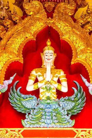angel sculpture at Chiangrai temple,Thailand photo