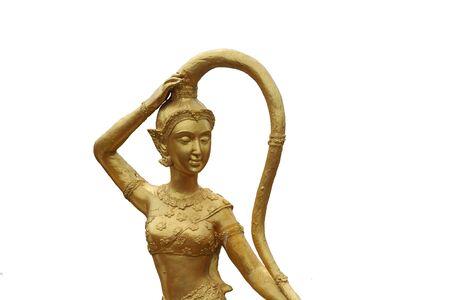 madre tierra: Antigua estatua tailandesa Madre Tierra Foto de archivo