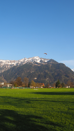 paragliding at the Interlaken park
