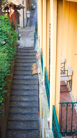 Narrow walking step in Bellagio