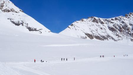 Snow walking track at Jungfrau Imagens