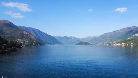 Lake como panoramic landscape view