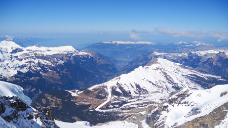 Jungfrau panoramic landscape view