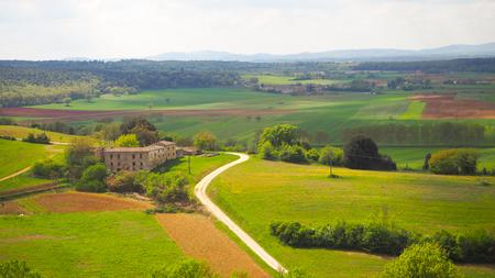 Monteriggioni landscape panoramic view