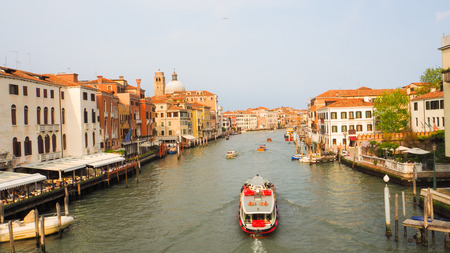 Boat transportation in Grand Canal