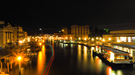 Venice Grand Canal in the night time