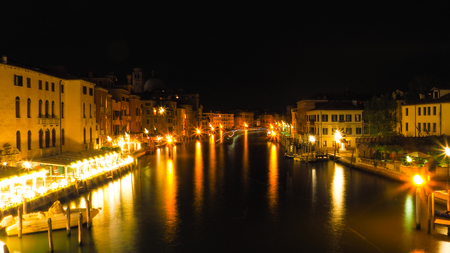 Venice Grand Canal in night time