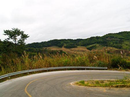 mountain curve , The dangerous , thailand photo