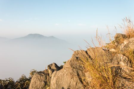 great smoky national park: fog and cloud mountain valley landscape, in Seoul, South Korea.