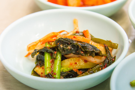 closedup: Closedup of Korean side dish pickle.
