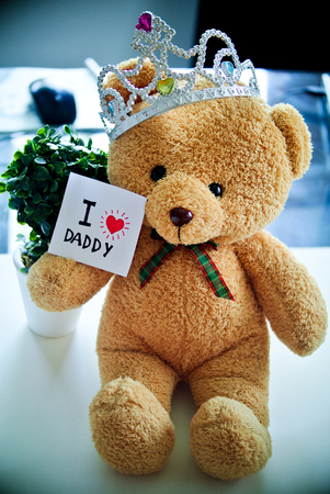 fathers day. Happy fathers day. family day. children daycare. children days. i love you dad. thank you dad. with teddy bear doll