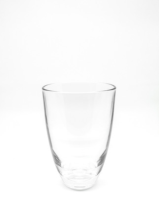 Empty drinking glass cup with white background