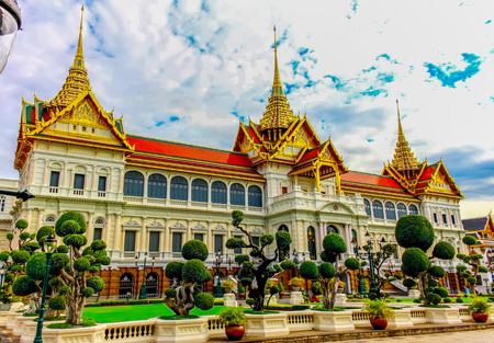 Thailand, Bangkok, Wat Phra Kaew; The royal grand palace photo