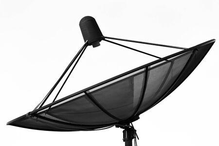 data transmission: Satellite dish transmission data isolated on white background Stock Photo