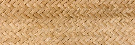 Panorama Rattan texture, detail handcraft bamboo weaving texture background,bamboo wall background. Zdjęcie Seryjne