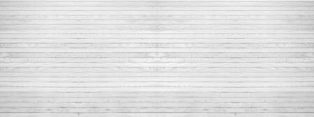 panorama of white grey wooden texure floor background table top view Reklamní fotografie