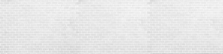 panorama black and White Structural Brick Wall. Panoramic Solid Surface. stone background.