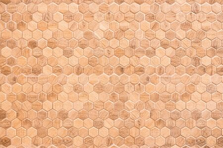 Honeycomb patterned wood panels in hexagonal shape, wood, blackground, abstract brown pattern background