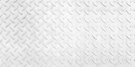 Steel plate pattern Manhole cover of white clean color ,white  Checker Plate abstract floor metal stanless background stainless pattern surface.