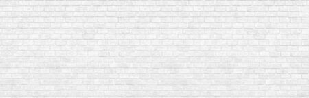 panorama  Structural white clean  Brick Wall. Panoramic Solid Surface. stone background.   brick wall  texture background wide and high resolution photo Reklamní fotografie