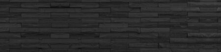 panorama black brick wall of dark stone texture and background ,paranomic stone floor wide picture               Reklamní fotografie