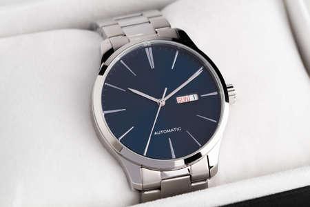 luxury men's watch in a gift box