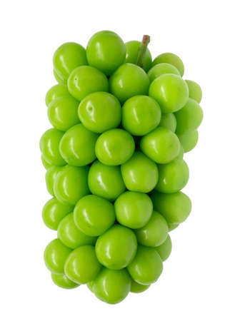 shine muscat grape on white background