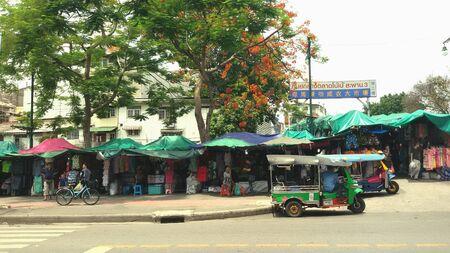 art: Central Market BoBae three bridges in Thailand. Stock Photo