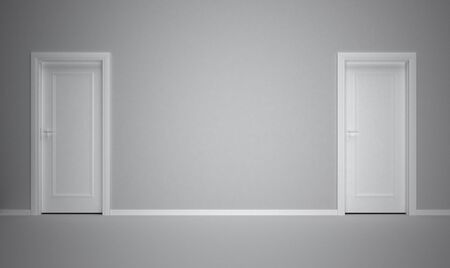 empty keyhole: white door