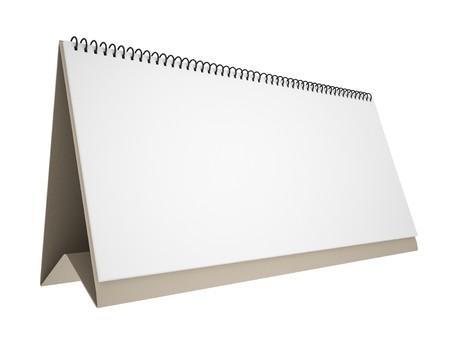 calendario escritorio: Calendario de escritorio en blanco