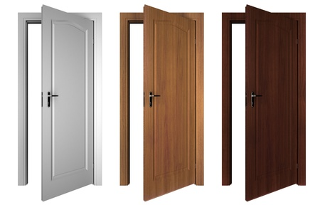 set of doors isolated on white Stock Photo - 9808353