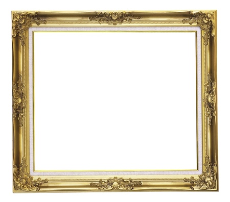 Picture gold frame Stock Photo - 9808321