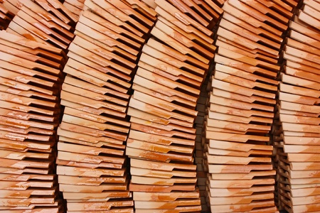 pile of new roof tiles. photo