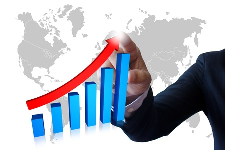 Businessman hand and graphs. Stock Photo - 9967563