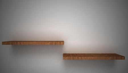 3D empty shelf on wall. Stock Photo - 10442861