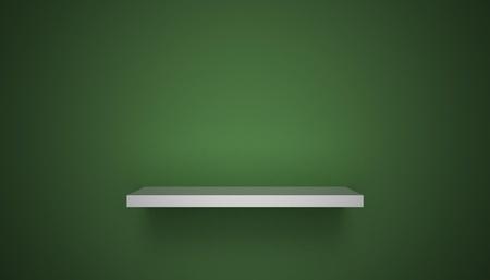 3D empty shelf on wall. Stock Photo - 10442852